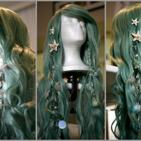 SEAFOAM MERMAID WIG Couture Original by SirensGrotto on Etsy