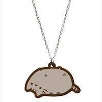 Hey Chickadee - Lazy Pusheen Necklace