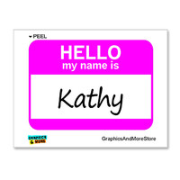 Kathy Hello My Name Is Sticker