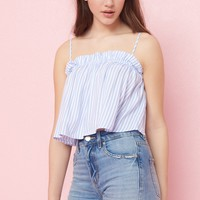 Midi Top With Off-Shoulder Sleeves