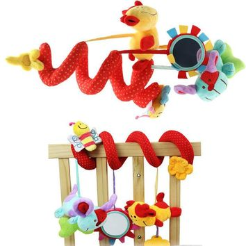 DCCKL72 Hot Sale Animal Plush Toy Super Soft Baby Rattles Toy Multifunctional Bed Crib Hangings Protect Toy
