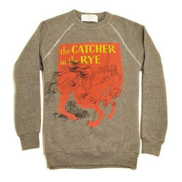 Catcher in the Rye book cover fleece