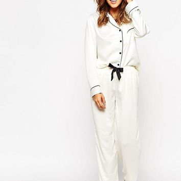 Bluebella Claudia Shirt & Trouser Pyjama Set at asos.com