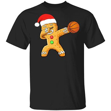 Dabbing Gingerbread Santa Basketball Christmas Pajama Gifts