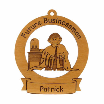 Future Businessman Ornament Personalized with Your Child's Name