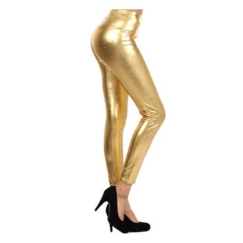 They're Back!  Fabulous Metallic Gold Leggings