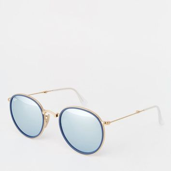 Ray-Ban | Ray-Ban Round Mirror Foldable Sunglasses at ASOS
