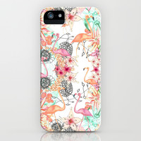 TROPICAL FLAMINGO iPhone & iPod Case by Monika Strigel | Society6