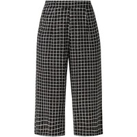 Black Grid Check Culottes