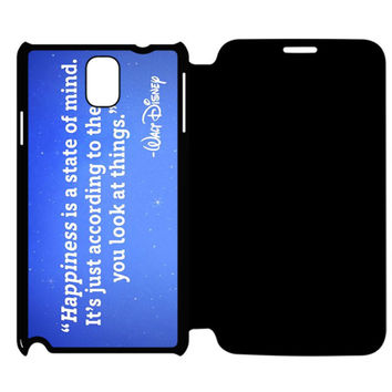 Walt Disney Qoutes Samsung Galaxy Note 4 Flip Case Cover