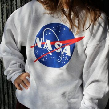 NASA Crew Neck Long Sleeve Sweatshirt