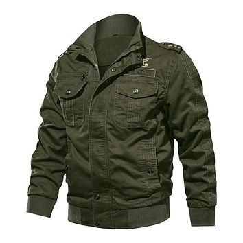 New Military Tactical Jackets Men Winter Autumn Bomber Casual Coat  Outwear Cargo Flight Jacket M-6XL Size