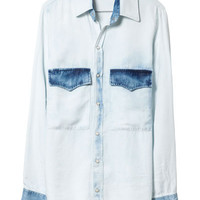 COMBINATION DENIM SHIRT - Shirts - Tops - Woman - ZARA United States