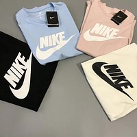 NIKE Leisure Sports Short-sleeved Cotton T-shirt (4-Color)