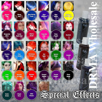 SPECIAL EFFECTS Semi-Permanent VEGAN Hair Dye Color 4 Oz Punk Rock W/ Free Brush