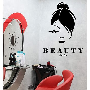 Wall Vinyl Decal Stickers Hair Style Beauty Salon Beauty Woman Decor Unique Gift z4746