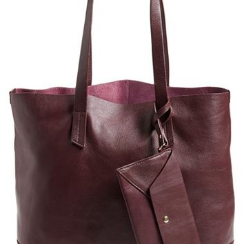 POVERTY FLATS by rian Leather Tote