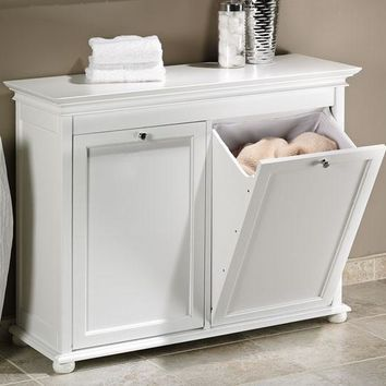 Hampton Bay Tilt-Out Hamper - Laundry Hampers - Bath | HomeDecorators.com