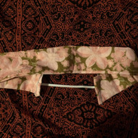 Brown and Pink Floral Headband
