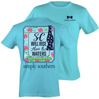 Simply Southern South Carolina Will Rise Above the Waters Flood Anchor State Girlie Bright T Shirt