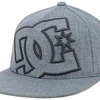 DC Shoes Hired Flatbill Stretch Fit Gray Hat Cap Size S/M