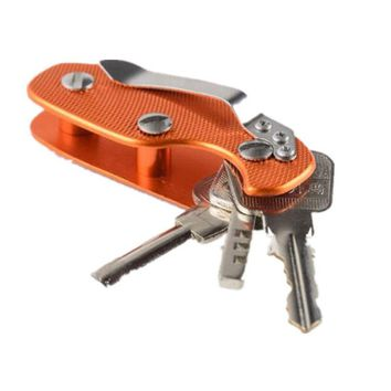 Aluminum Key Holder Organizer Clip Folder Keyring Keychain Case Pocket Tool