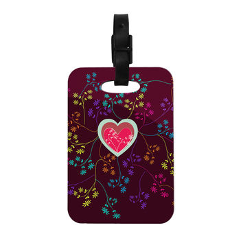 "Famenxt ""Love Heart"" Multicolor Heart Decorative Luggage Tag"