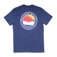 Bluff Horizon Tee in Navy by Waters Bluff