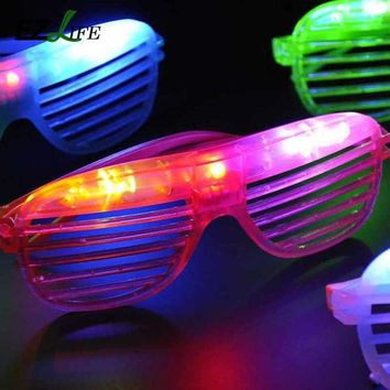 DKF4S EZLIFE Hot Sale Flashing Party LED Light Glasses for christmas Birthday Halloween party decoration supplies glow glasses CT0206