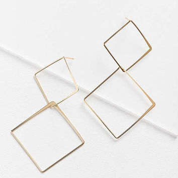 Stacked Shape Drop Earring   Urban Outfitters