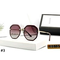 GUCCI street fashion men and women models TR round frame color film polarized sunglasses #3