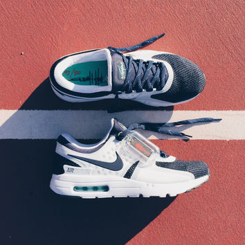 Nike Air Max Zero QS White/Mid Navy-Rift Blue-Hyper Jade Limit 1 per Customer