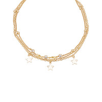 Ettika Stars And Pearls Bracelet in Gold