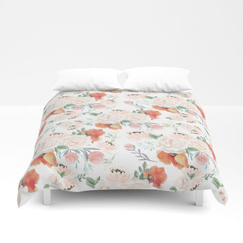 poppies Duvet Cover by sylviacookphotography