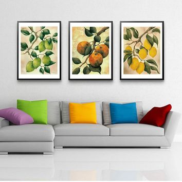 Traditional Chinese Fruits Posters And Prints Wall Art Canvas Painting Dining Room Decoration for Kitchen Wall Pictures