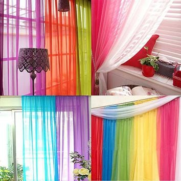 Lightweight Gauzy Valances Door Window Curtain