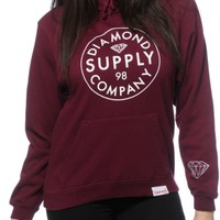 Diamond Supply Co. Stamped Burgundy Hoodie