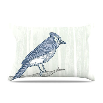 "Sam Posnick ""Blue Jay"" Pillow Sham"