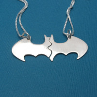 BLANK Batman Best Friend necklaces on silver CHAINS by VisionQuest