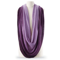 Purple Ombre Infinity Scarf - New Age, Spiritual Gifts, Yoga, Wicca, Gothic, Reiki, Celtic, Crystal, Tarot at Pyramid Collection