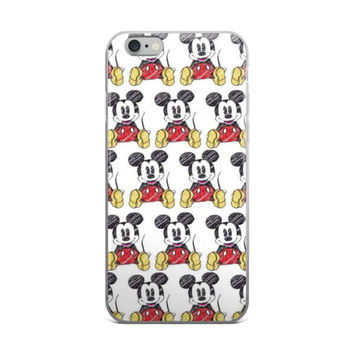 Mickey Mouse Collage Drawing iPhone 4 4s 5 5s 5C 6 6s 6 Plus 6s Plus 7 & 7 Plus Case