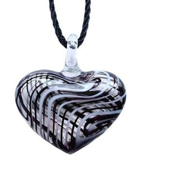 Heart Lampwork Murano Glass Pendant Necklace For Women