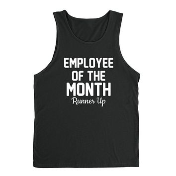 Employee of the month runner up gift for coworker funny graphic Tank Top
