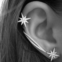 Star Ear Cuff (Cuff for Right Ear & Stud for Left Ear)