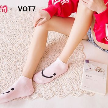 1Pairs Women Comfortable Candy Color Cotton Sock Slippers Short Ankle Socks Women Popsocket Meias Slippers Calcetines Meia #P09