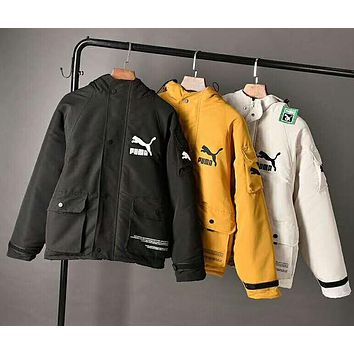 PUMA Winter Popular Women Men Casual Hooded Cardigan Jacket Coat