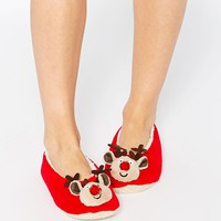 ASOS NOW ITS CHRISTMAS Reindeer Slippers