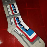 Funny Disney Socks - Monorail Red And Blue
