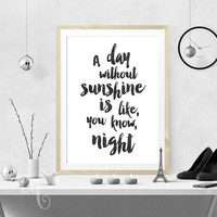 Wall art decor Steve Martin funny quote, minimalistic typography giclée print
