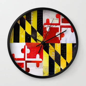 Maryland clock, Maryland pride Wall clock, Maryland home decor, graduation gift, decorative clock, University of Maryland accessories